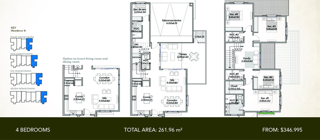 Townhome Residence 4 - 4 Bedrooms - Total Area: 261.96 m2